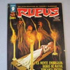 Cómics: RUFUS (1973, IMDE / GARBO) 54 · XI-1977 · LA MENTE EMBRUJADA / DUROS DE MATAR / VENGANZA OSCURA. Lote 152817190