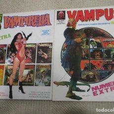 Cómics: VAMPIRELLA, EXTRA, TODO LO PUBLICADO EN USA ANTES DE SU APARICIÓN EN ESPAÑA, Y VAMPUS EXTRA. Lote 155558734