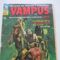 Cómics: VAMPUS Nº 12 · VIII-1972 · LA MÁSCARA DE LA MUERTE ROJA / EL SEPULTURERO (1971, IMDE / GARBO) CS126. Lote 160655146