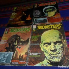 Cómics: FAMOSOS MONSTERS DEL CINE NºS 3, 7, 8 Y 11. GARBO 1975. 40 PTS. RAROS.. Lote 161766446