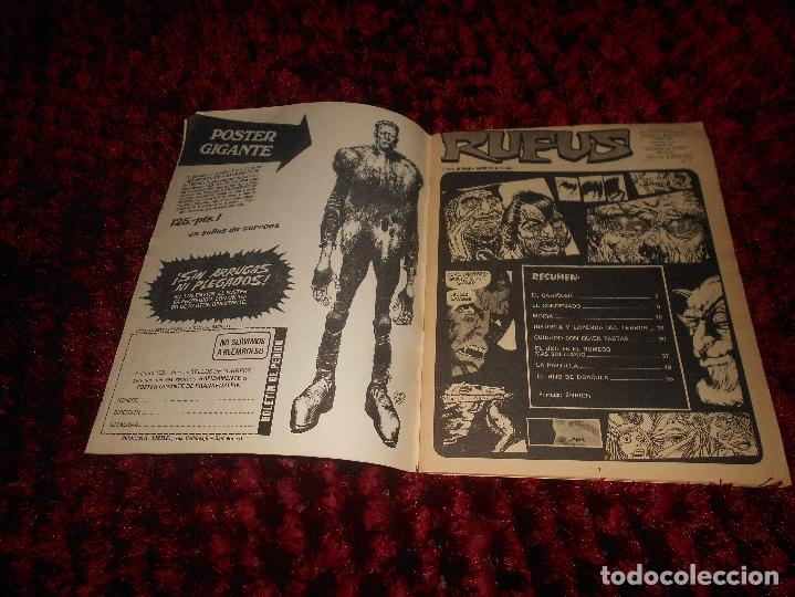 Cómics: RUFUS Nº 3 EDI. IBERO MUNDIAL 1973 - DRACULA por BILL DUBAY - ESTEBAN MAROTO la COSA DEL PANTANO ETC - Foto 2 - 167547112