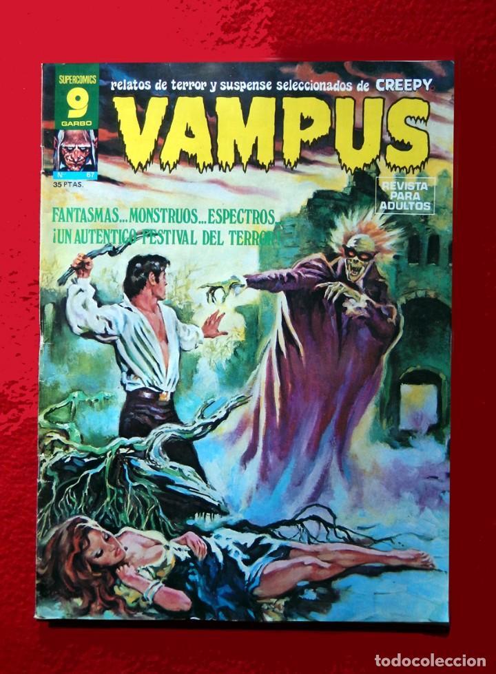 VAMPUS Nº 67 - SELECCIÓN DE CREEPY, - EDITORIAL GARBO 1977, ORIGINAL, POSTER CENTRAL DE J. M. BEA. (Tebeos y Comics - Garbo)