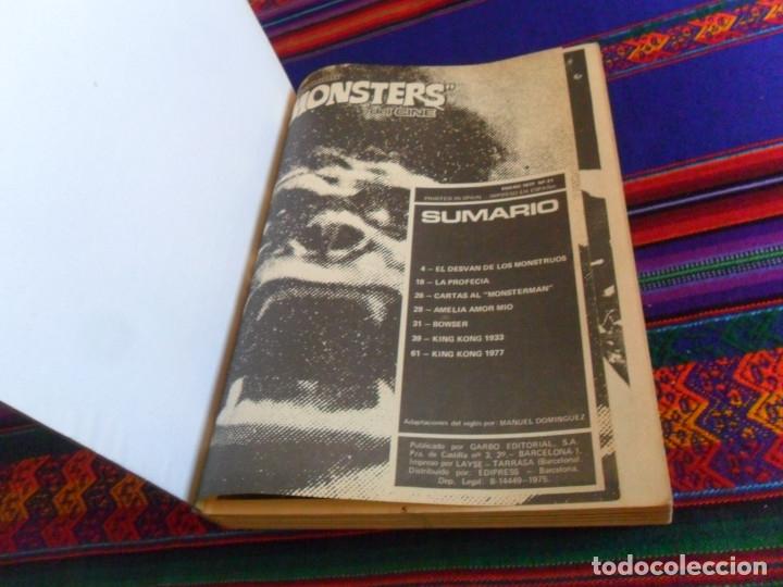 Cómics: TOMO RETAPADO FAMOSOS MONSTERS DEL CINE CON NºS 21 7 8 9 10 11 12. GARBO 1975. RARO. - Foto 2 - 177642179