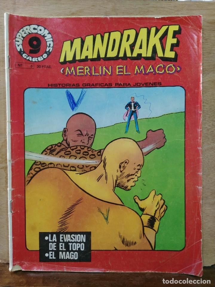 MANDRAKE, MERLÍN EL MAGO - SUPERCOMICS GARBO Nº 5 - ED. GARBO (Tebeos y Comics - Garbo)