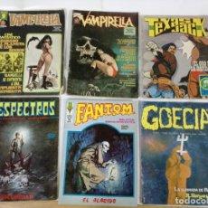 Cómics: LOTE DE 6 COMICS.VAMPIRELLA,TEXAS JACK,ESPECTROS,FANTOM,GOECIA. Lote 182986030