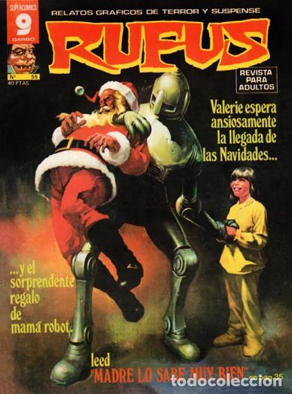 RUFUS-RELATOS GRÁFICOS DE TERROR Y SUSPENSE- Nº 55 -1977-AL WILLIAMSON-ALCALÁ-CORRECTO-DIFÍCIL-4673 (Tebeos y Comics - Garbo)