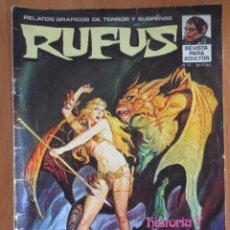 Cómics: RUFUS Nº 11. Lote 184880300