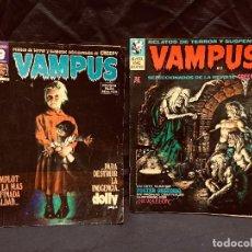 Fumetti: DOS CÓMIC VAMPUS REVISTA ADULTOS RELATOS TERROR SUSPENSE CREEPY. Lote 191470251