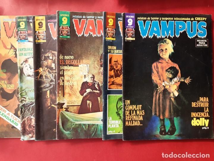 LOTE DE 6 VAMPUS-GARBO.BUEN ESTADO-VER FOTOGRAFIAS (Tebeos y Comics - Garbo)