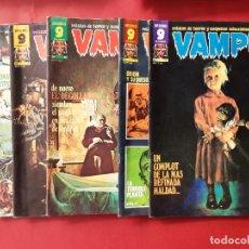 Cómics: LOTE DE 6 VAMPUS-GARBO.BUEN ESTADO-VER FOTOGRAFIAS. Lote 194200887