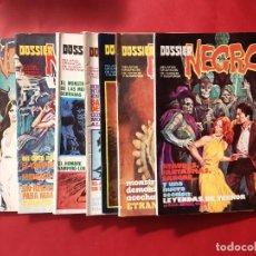 Cómics: LOTE DE 7 DOSSIER NEGRO-GARBO-BUEN ESTADO -VER FOTOGRAFÍAS. Lote 194203190