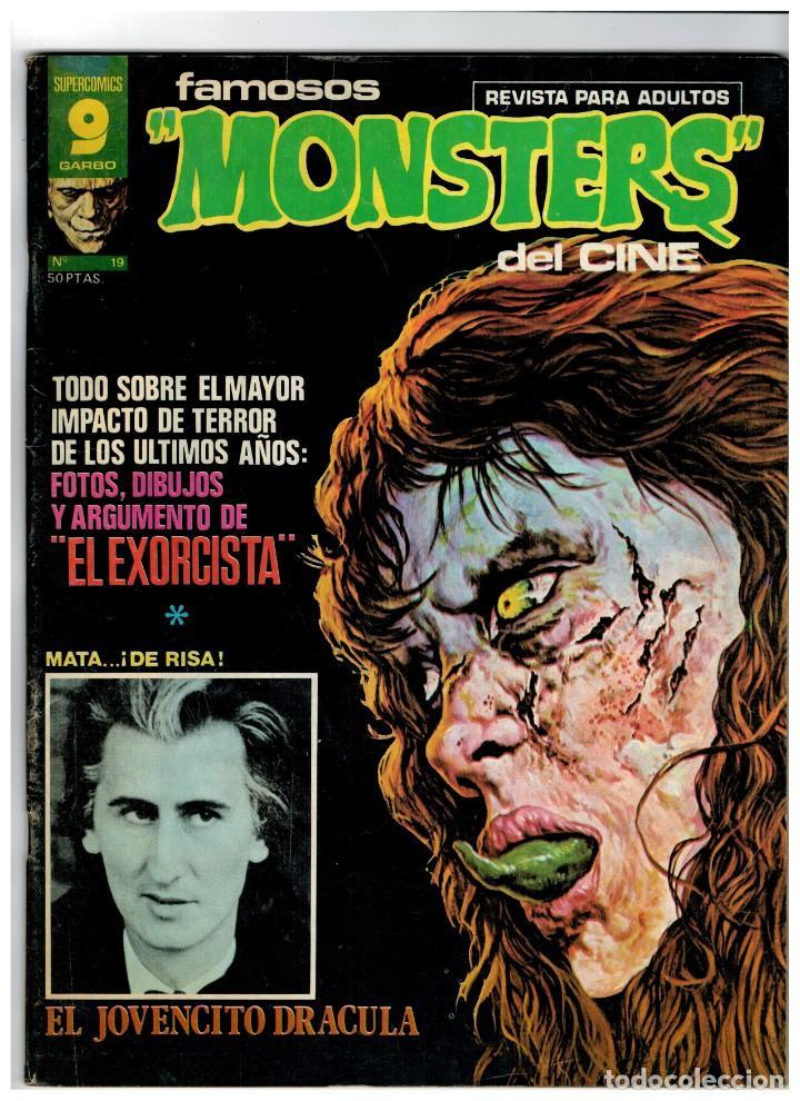 FAMOSOS MONSTERS DEL CINE Nº 19. GARBO: NOVIEMBRE DE 1976. BUENO. (Tebeos y Comics - Garbo)