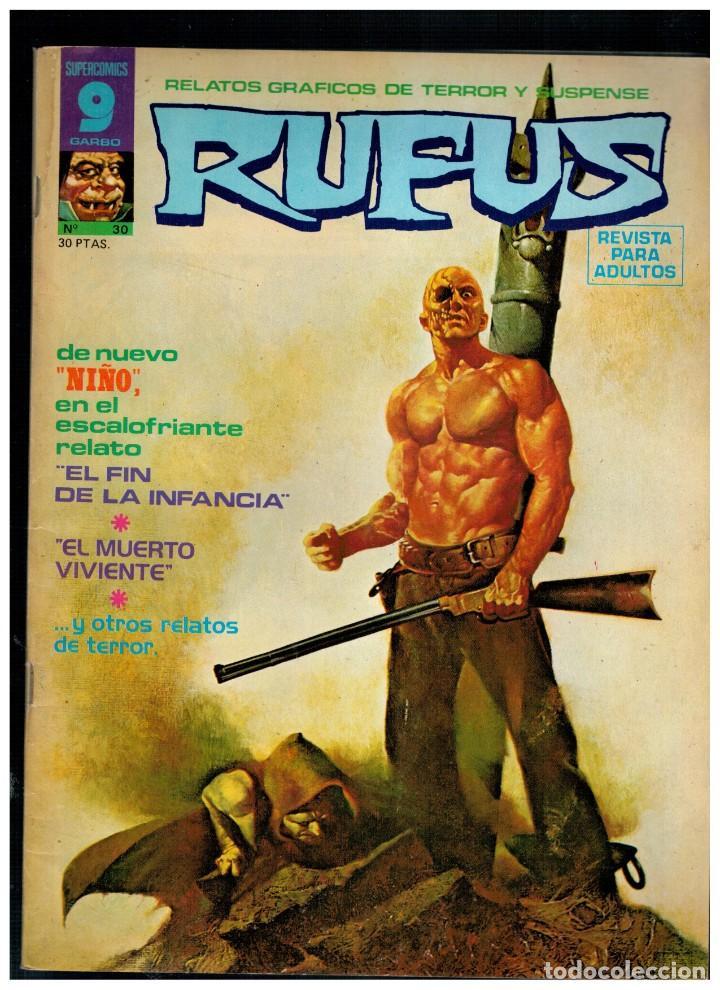 RUFUS Nº. 30 - RELATOS DE TERROR Y SUSPENSE - GARBO 1973. (Tebeos y Comics - Garbo)