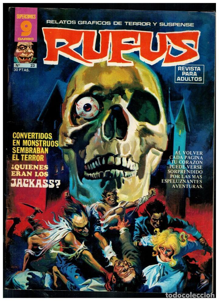 RUFUS Nº. 23 - RELATOS DE TERROR Y SUSPENSE - GARBO 1973. EXCELENTE. (Tebeos y Comics - Garbo)