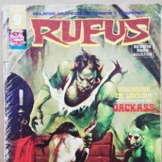 Cómics: RUFUS Nº 25 - JUNIO 1975 - RELATOS GRÁFICOS DE TERROR Y SUSPENSE - FJRB. Lote 194783722