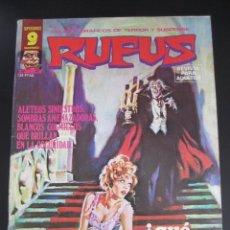Fumetti: RUFUS (1973, IMDE / GARBO) 47 · IV-1977 · ¿QUÉ LE LLEVÓ A LOS MURCIÉLAGOS? *** EXCELENTE ***. Lote 197586171