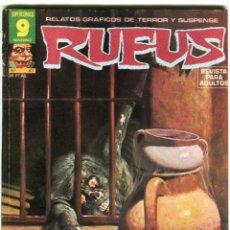 Cómics: RUFUS (GARBO) N 43 DICIEMBRE DE 1976 PROCEDE DE RETAPADO. Lote 198188812