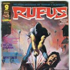 Cómics: RUFUS (GARBO) N 27 AGOSTO DE 1975 PROCEDE DE RETAPADO. Lote 198190127