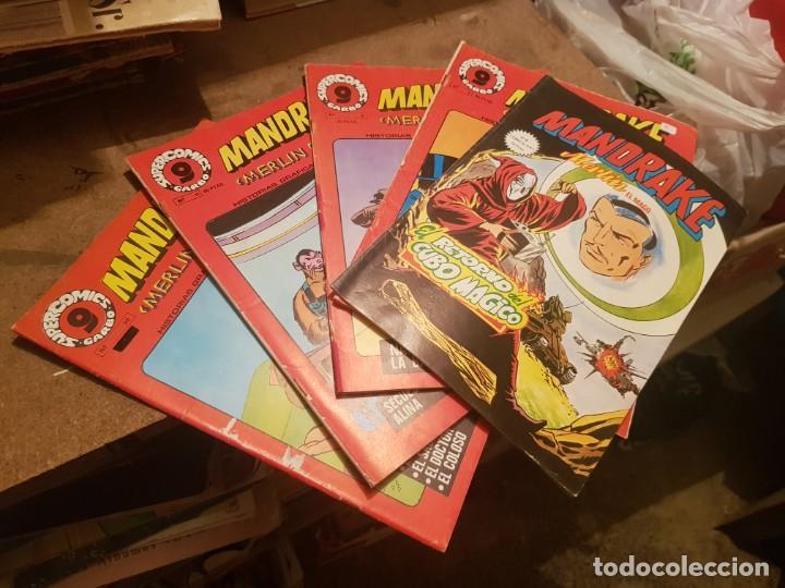 LOTE 5 TEBEOS / CÓMIC MANDRAKE GARBO MERLÍN EL MAGO N 2 AL 20 1973 (Tebeos y Comics - Garbo)