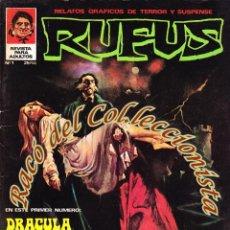 Cómics: RUFUS, EDITORIAL GARBO, COLECCION COMPLETA 56 NUMEROS MAS 2 EXTRAS.. Lote 221142042