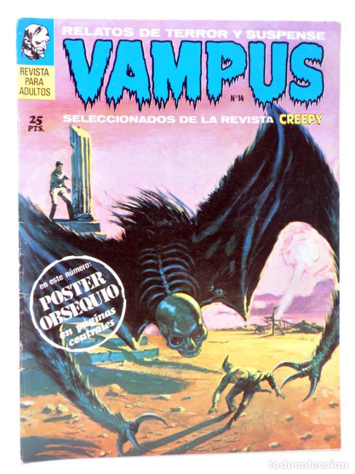 VAMPUS 14. RELATOS DE TERROR Y SUSPENSE SELECCIONADOS DE CREEPY (VVAA) GARBO, 1972. CON POSTER (Tebeos y Comics - Garbo)