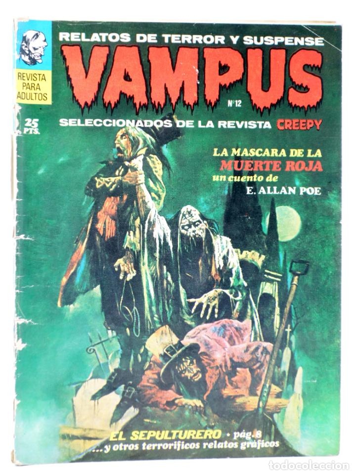 VAMPUS 12. RELATOS DE TERROR Y SUSPENSE SELECCIONADOS DE CREEPY (VVAA) GARBO, 1972 (Tebeos y Comics - Garbo)