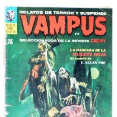 Cómics: VAMPUS 12. RELATOS DE TERROR Y SUSPENSE SELECCIONADOS DE CREEPY (VVAA) GARBO, 1972. Lote 227483175