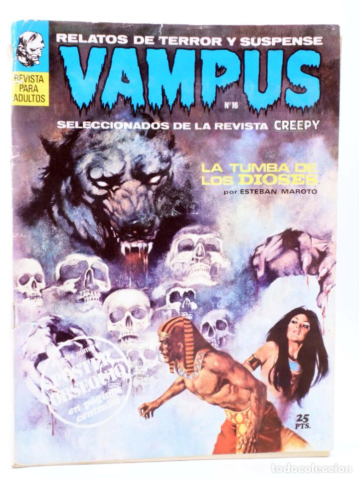 VAMPUS 16. RELATOS DE TERROR Y SUSPENSE SELECCIONADOS DE CREEPY (VVAA) GARBO, 1972. CON POSTER (Tebeos y Comics - Garbo)