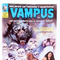 Cómics: VAMPUS 16. RELATOS DE TERROR Y SUSPENSE SELECCIONADOS DE CREEPY (VVAA) GARBO, 1972. CON POSTER. Lote 227483180