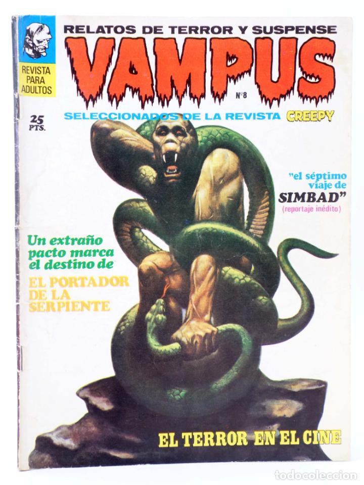 VAMPUS 8. RELATOS DE TERROR Y SUSPENSE SELECCIONADOS DE <STRONG>CREEPY</STRONG>. (VVAA) GARBO, 1972 (Tebeos y Comics - Garbo)