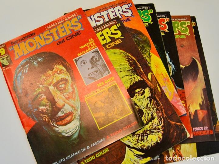 LOTE DE 8 NÚMEROS DE FAMOSOS MONSTERS DEL CINE. SUPERCOMICS GARBO. 1975-76. BUEN ESTADO (Tebeos y Comics - Garbo)