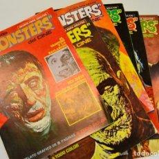 Cómics: LOTE DE 8 NÚMEROS DE FAMOSOS MONSTERS DEL CINE. SUPERCOMICS GARBO. 1975-76. BUEN ESTADO. Lote 227489290