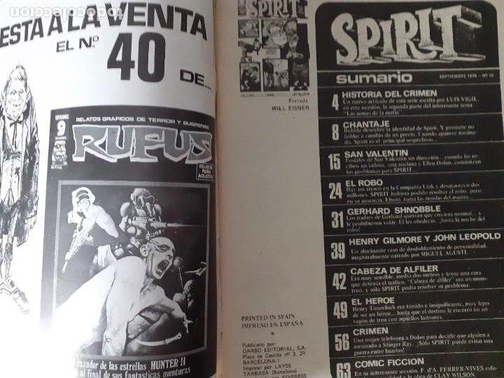 Cómics: SPIRIT-GARBO- Nº 16 -1976-MÍTICA REVISTA-LEGENDARIO-WILL EISNER-CORRECTO-DIFÍCIL-LEA-4113 - Foto 5 - 227895410