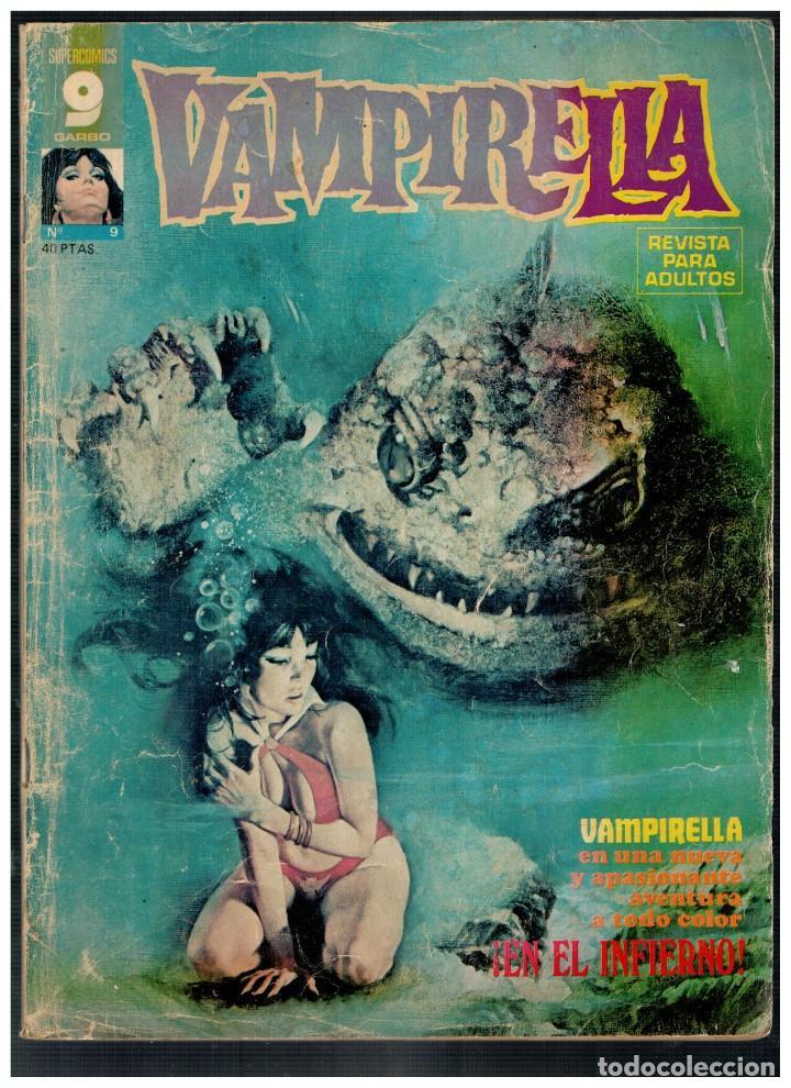 VAMPIRELLA Nº 9. GARBO 1973. PORTADA DESLUCIDA.INTERIOR BUENO. (Tebeos y Comics - Garbo)