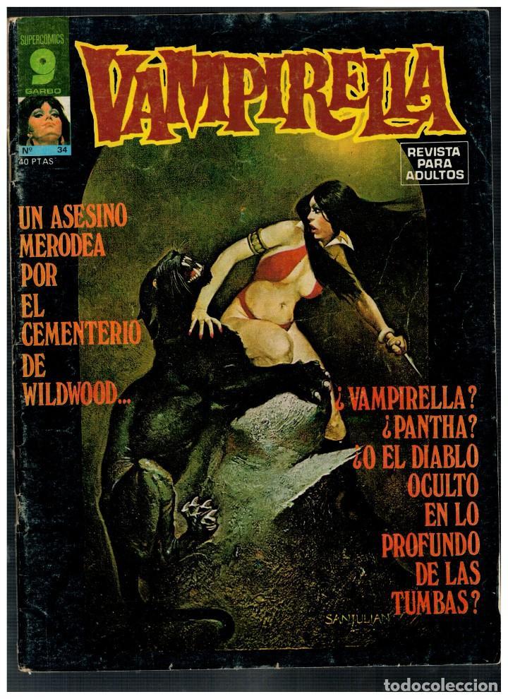 VAMPIRELLA Nº 34. - GARBO 1973. (Tebeos y Comics - Garbo)