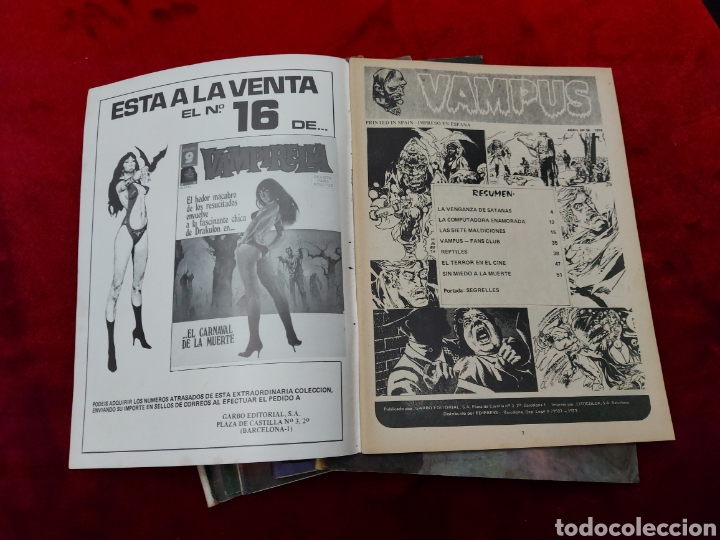 Cómics: VAMPUS COMIC DE RELATOS DE TERROR Y SUSPENSE N°42,45,50,53,56,61 Y 71,/CREEPY/MIEDO/PANICO/HORROR/ - Foto 36 - 239920975
