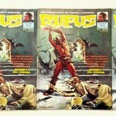 Cómics: RUFUS Nº 21 - RELATOS GRAFICOS DE TERROR Y SUSPENSE - GARBO 1975 BUEN ESTADO. Lote 239926825