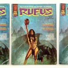 Cómics: RUFUS Nº 28 - RELATOS GRAFICOS DE TERROR Y SUSPENSE - GARBO 1975 BUENO. Lote 239927550
