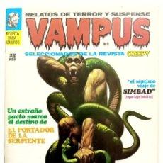 Cómics: VAMPUS Nº 8 - RELATOS GRAFICOS DE TERROR Y SUSPENSE - GARBO 1972 MUY BUENO. Lote 239928450