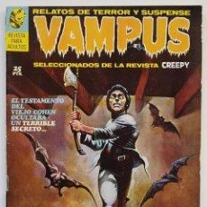 Fumetti: VAMPUS Nº 1 - RELATOS GRAFICOS DE TERROR Y SUSPENSE - GARBO 1971 BUEN ESTADO. Lote 252166080