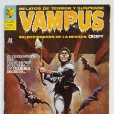 Fumetti: VAMPUS Nº 1 - RELATOS GRAFICOS DE TERROR Y SUSPENSE - GARBO 1971 BUEN ESTADO. Lote 252166205