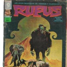 Cómics: RUFUS. Nº 24. RELATOS GRÁFICOS DE TERROR Y SUSPENSE. GARBO, EDITORIAL. MAYO, 1975. (Z/C8). Lote 267064099