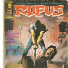 Cómics: RUFUS. Nº 27. RELATOS GRÁFICOS DE TERROR Y SUSPENSE. GARBO, EDITORIAL. AGOSTO, 1975. (Z/C8). Lote 267064219