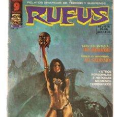 Cómics: RUFUS. Nº 28. RELATOS GRÁFICOS DE TERROR Y SUSPENSE. GARBO, EDITORIAL. SEPTIEMBRE 1975. (Z/C8). Lote 267064519