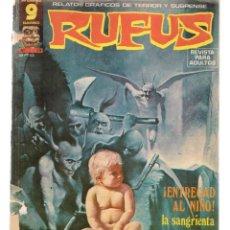 Cómics: RUFUS. Nº 39. RELATOS GRÁFICOS DE TERROR Y SUSPENSE. GARBO, EDITORIAL. AGOSTO, 1976. (Z/C8). Lote 267064914