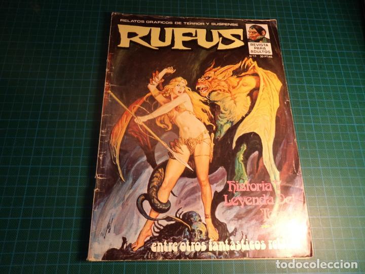 RUFUS. Nº 11. IBERO MUNDIAL. TIENE SUELTA LA HOJA CENTRAL (Tebeos y Comics - Garbo)