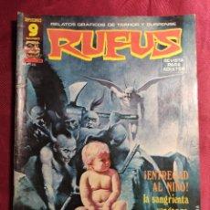 Comics : RUFUS. Nº 39. RELATOS DE TERROR Y SUSPENSE. GARBO EDITORIAL.. Lote 272006948