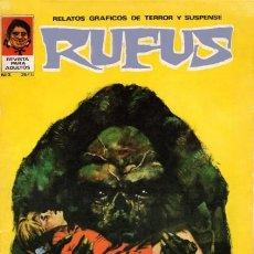 Cómics: RUFUS-RELATOS GRÁFICOS DE TERROR Y SUSPENSE- Nº 3 -SUTTON-MÁS-MAROTO-1973-BUENO-DIFÍCIL-LEAN-5259. Lote 276787398