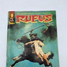 Cómics: RUFUS. RELATOS GRAFICOS DE TERROR Y SUSPENSE. Nº 37. SUPERCOMICS GARBO. JUNIO 1976. Lote 286448403
