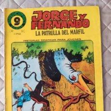 Cómics: JORGE Y FERNANDO Nº 22 SUPERCOMICS GARBO. Lote 293440328